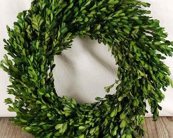 Natural Preserved Boxwood Wreath 16""