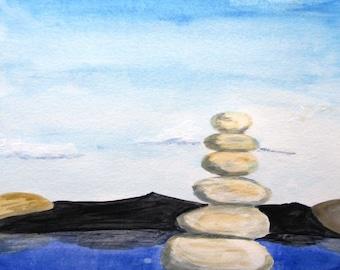 "Original painting with acrylic ""Zen"""
