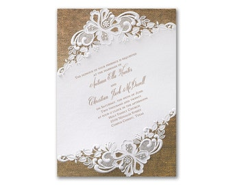wedding invitations embossed | etsy, Wedding invitations