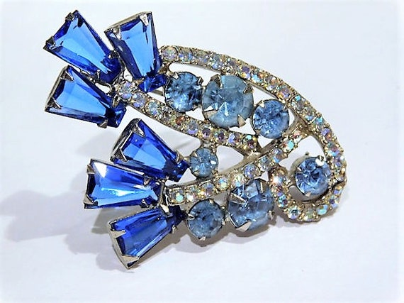 Juliana Rhinestone Brooch / Verified DeLizza Elster / Mid Century Brooch