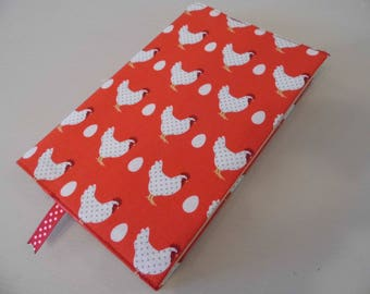 Here Chicken! Handmade Fabric Book Cover