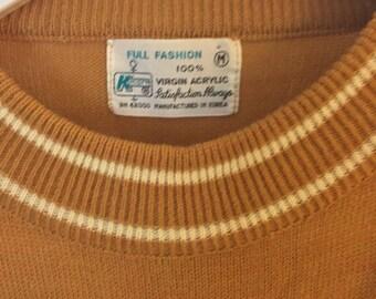 Short Sleeve Sweater 70s Mustard