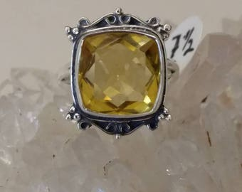 Citrine Ring Size 7 1/2