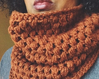Puff Stitch Cowl, Warm Cozy, Infinity Scarf, Neck Warmer, Ready to Ship