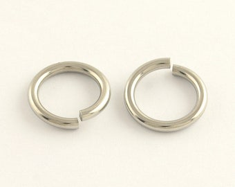 500 Pcs 10 x 1.4 mm Stainless Steel Jump Rings | Ultra Thick | Large Jump Rings | Split Rings | 10 mm Jump Rings | Silver Jump Rings |0295
