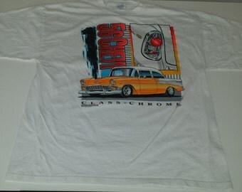 Vintage  1996 Classic Chrome 1956 Chevy  graphic tshirt size XL