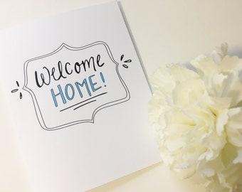 Welcome Home Card - New House Card - Moving Day Greeting Card - First Home Card