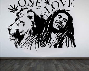 Bob Marley wall art sticker