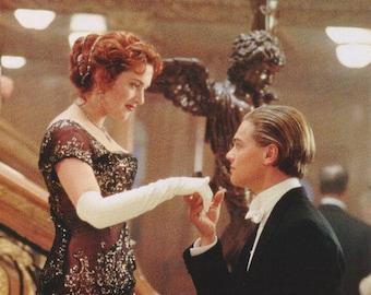 Titanic Leonardo DiCaprio Kate Winslet Star Kiss Rare  Vintage Poster