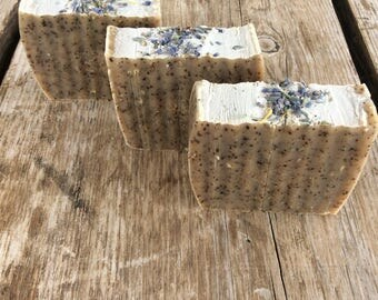Lavender and Coffee handmade soap, all natural soap, artisan soap, HoneyBarrel Soaps
