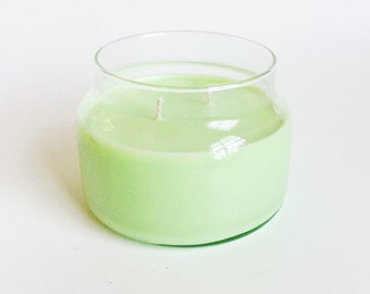 Garden mint Candle/ 8oz 2 wick/ Natural Soy Wax/ Refillable/ Zero Waste/ Fresh herb scent/ Mother's Day Gift