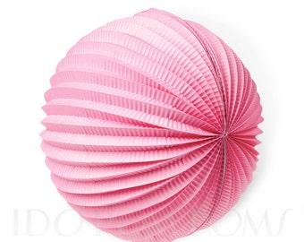 Cherry Blossom Pink - Light Pink - Accordion Paper Lanterns-Wedding Party Decorations -Birthday Decorations -Baby shower-Hanging decorations