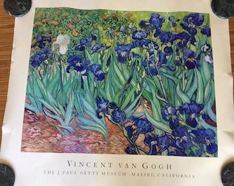 """Vincent Van Gogh Irises Print Poster   27"""" x 30"""""""