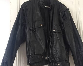 Vintage 80s leather jacket size M/L