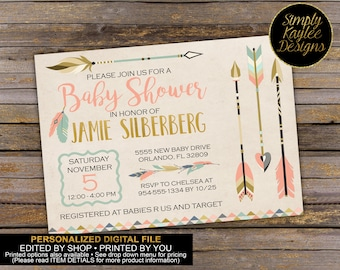 Tribal Baby Shower Invitation