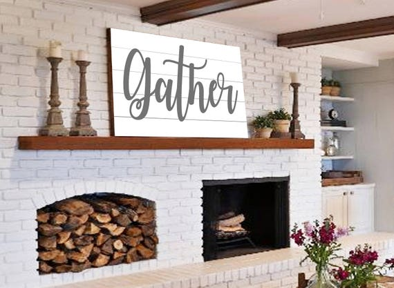 Modern Farmhouse Wall Decor Large Gather Sign Modern Farmhouse Wall Decor Shiplap On Simple Art Projects You Can Make This Week