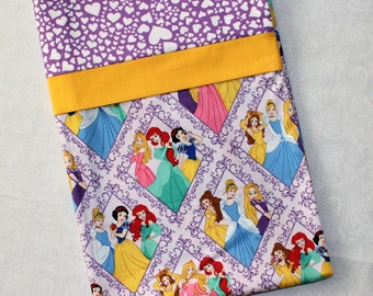 Purple Disney Princesses Standard Pillowcase