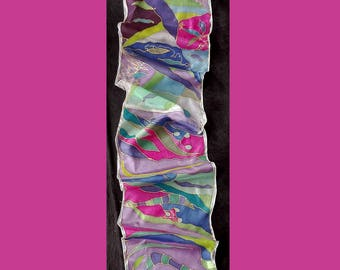 No. 3003 hand painted silk scarf
