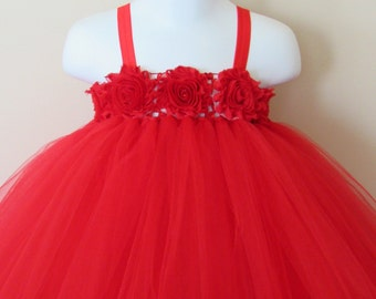 Red christmas tutu dress, red tutu dress, holiday tutu dress, Christmas dress, baby first birthday tutu, Christmas tutu dress, red dress