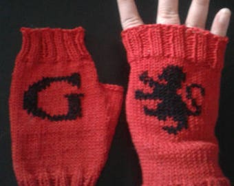 Almost Gryffindor arm warmers