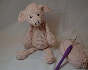 Crochet pig-Crochet piglet-Crochet animal-Amigurumi-Amigurumi animal-Crochet toy-Amigurumi pig