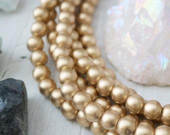 5% sale 8mm Wood Beads, Gold Wood Beads, 8mm Beads, Gold Beads, Gold Wood, Bright Gold, 8mm Gold Beads, Waxed Wood Beads, 8mm Wood,