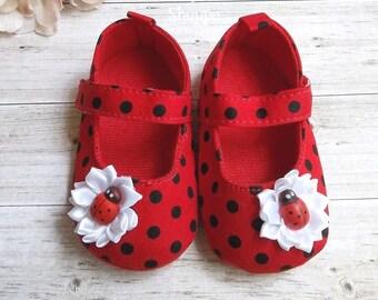Ladybug Shoes for Ladybug Birthday Outfit - Ladybug Birthday - Ladybug First Birthday Outfit - Ladybug Shirt - Lady Bug Birthday Outfit