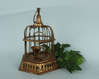 Vintage Brass Bird Cage Decoration