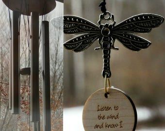 Dragonfly Memorial wind chime Loss Garden Heaven gift after loss memoral garden custom gift christmas memorial garden healing after loss