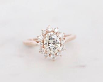 Oval Halo, Halo Engagement Ring, Engagement Ring, Wedding Ring, Bridal Ring, Diamond Ring, Moissanite Ring, Gold Ring