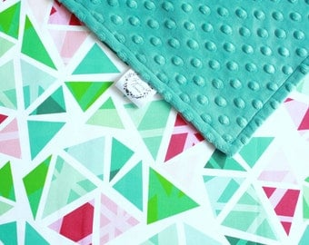 Teal Baby Blanket - Minky Blanket - Gender neutral - Pram blanket - New Baby Gift