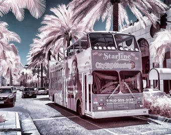 Rodeo Drive Tour Bus Fine Art Photo, Rodeo Drive Print, Rodeo Drive, Hollywood Photo, Hollywood Wall Art, California Wall Art, Wall Art