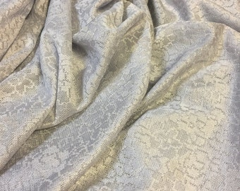 Vintage Lace Fabric. 1/2 yd. Lace Fabric. Vintage Silver Fabric. Vintage Fabric Gray. Floral Lace Fabric.Shabby Chic Fabric.Gray Lace Fabric