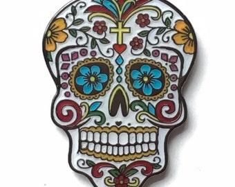 Day of the Dead (Dia de los Muertos) Candy Mask Lapel Pin Badge