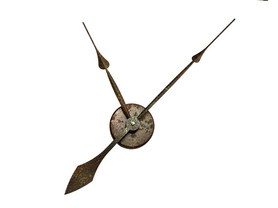 12 Rusty Antique 4pc Set Extra Large Wall Clock By