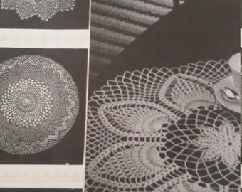 Mercer Crochet Doilies Coats Book no 525, Pattern book, 1970, 11 designs