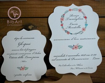 Participation country chic wedding invitation