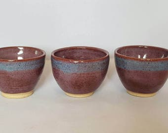 Handmade Pottery Bowls - Set of 3
