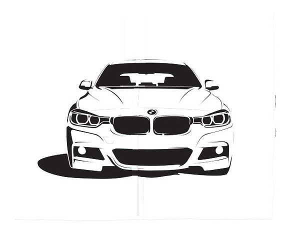 bmw car garage sticker vinyl decal wall art 098. Black Bedroom Furniture Sets. Home Design Ideas