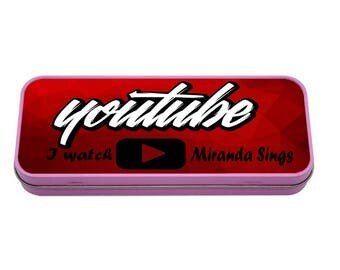 I Watch Miranda Sings Pencil case TIN Back to School