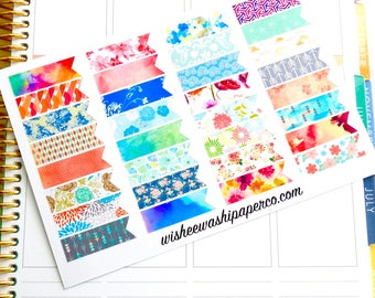 Decorative Page Flags - Patterned Page Flags - Page Flag Set - Large Page flags - Planner Stickers