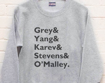 Grey's anatomy Squad Grey yang karev Stevens O'malley on Unisex Crew neck Sweatshirt