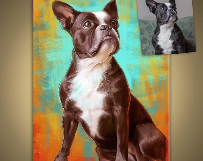 Featured listing image: Classic painting portraits PDF. Detailed Portraits. Personalized pets portrait. Portrait drawing. Custom illustration. Bespoke illustration.