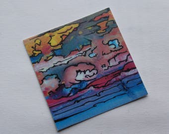 Pastel Abstract Vinyl Sticker