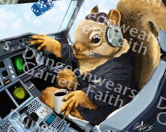 Flying Squirrel Art Print