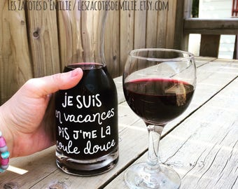 "Decal ""Je suis une éducatrice ?"" to stick on the coffee cups, thermos, mason jar"