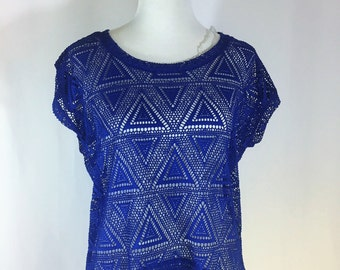 Knitted Sweater Blue size M by Dorila Clothes