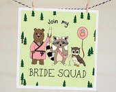 Join My Bride Squad Card   Funny Bridesmaid Proposal Card   Will You Be My Bridesmaid   Bridesmaid Card   Asking Card   Maid of Honour Card