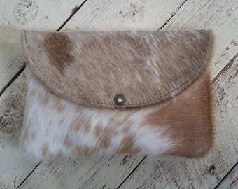 Beautiful cowhide clutch bag