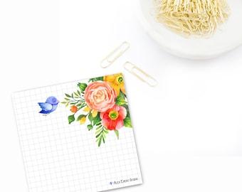 Flowers paper pad